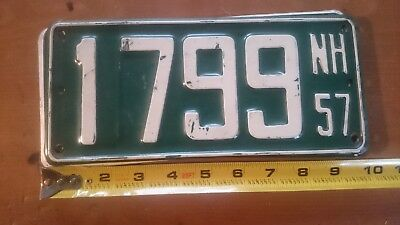 NEW HAMPSHIRE License Plate 1957 NH1799