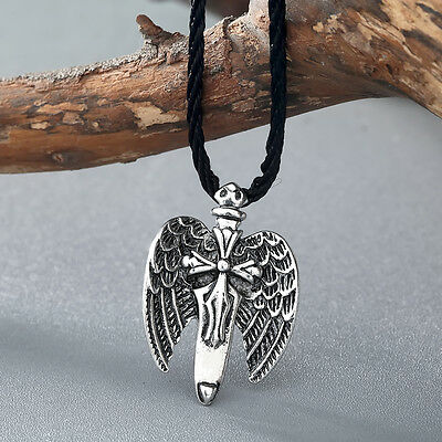 Classic Eagle Large Wing Pendant Men Necklace Cross Sword Norse Amulet Jewelry
