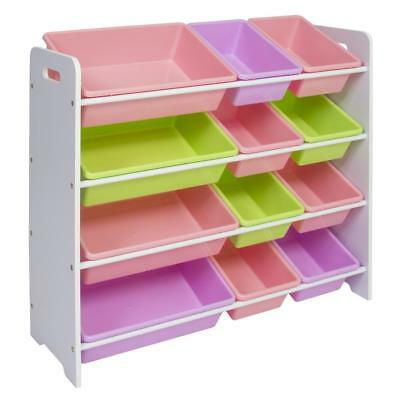 Toy Bin Shelf Organizer Storage Box Playroom Kids Childrens Bedroom Shelves Toys