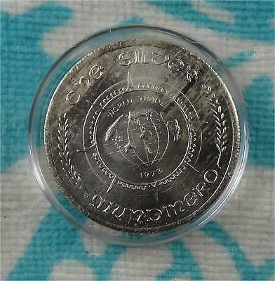 1973 Wade Ventures World Trade MUNDINERO - 1 oz 999 Fine Silver Round in Capsule