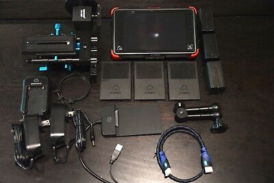 "Atomos Ninja Flame 7"" with Follow Focus, rig mount, hard case, SSD's + More!"