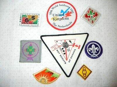 BOY SCOUT BSA LOT of  PATCHES X eight  (8) SCOUTS CANADA USA JAMBOREE 1993 95 96