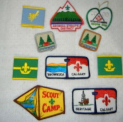 BOY SCOUT BSA LOT of  PATCHES WOGGLES X 10 SCOUTS CANADA JAMBOREE