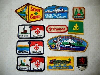 BOY SCOUT BSA LOT of  PATCHES WOGGLES X 11 SCOUTS CANADA & USA