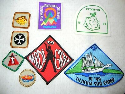 BOY SCOUT BSA LOT of  PATCHES  X eight  (8) SCOUTS CANADA & USA JAMBOREE CHILE