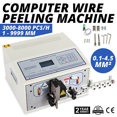 Computer Wire Peeling Stripping Cutting Machine Automatic Large Wires 4 Wheels
