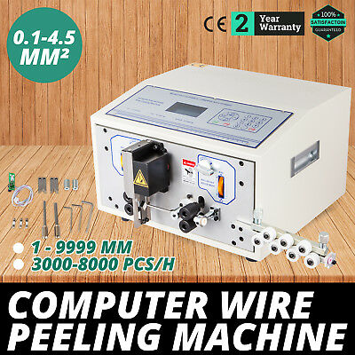 Computer Wire Peeling Stripping Cutting Machine 0.1-4.5mm² 4 Wheels SWT508-SD