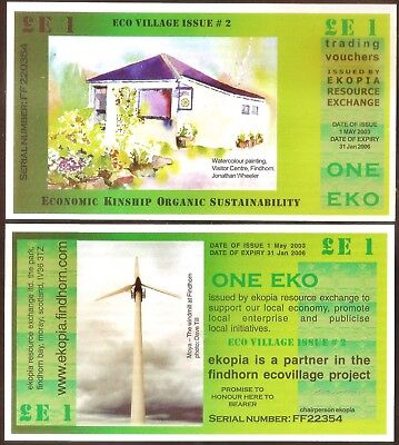 Scotland Local Currency EKOPIA 2nd Edition Issue One Eko Pound 2003 2006 UNC