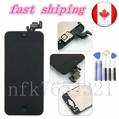 Black For iPhone 5 LCD Touch Screen Digitizer Home Camera Button Assembly CA
