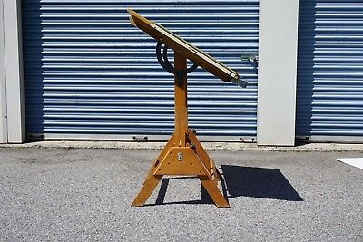 Vtg Anco-Bilt Wooden Adjustable Drafting Table Architect Artist Work Wood Desk
