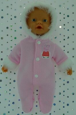 """Play n Wear Doll Clothes For 13"""" My Little Baby Born/Mommy PINK SNOWSUIT"""