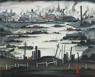 L.S. Lowry The Lake Giclee Canvas Print  Poster Reproduction