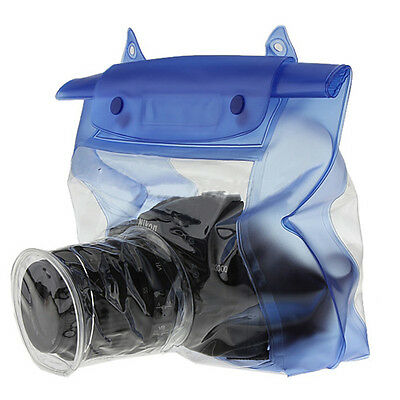20M Waterproof DSLR/SLR Camera Pouch Dry Bag Underwater For Canon Nikon Blue New