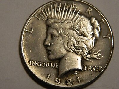 1921 Peace Dollar Two Face Coin  --- Lot #1220