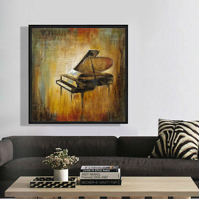 Canvas Print Digital Wall Art Retro Design Piano Music Home Decor Unframed
