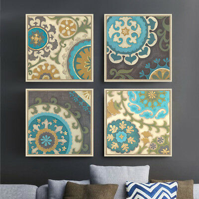 4 Piece Art Prints Digital Canvas Islamic Moroccan Posters Home Decor Unframed