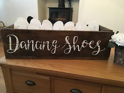 1462824a78c WOODEN WEDDING FLIP Flop Basket Crate Box Storage Shoe - £15.00 ...