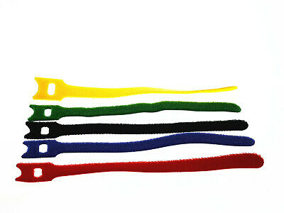 50pcs Multi-color Reusable Fastening Cable Ties Sticky Wire Straps Organizer