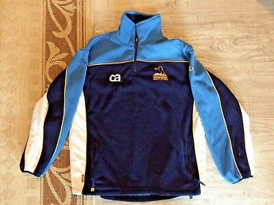 Brumbies rugby men's heavy weight microfleece windcheater jersey size L large