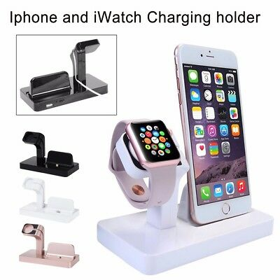 Soporte Dock Base Charging de Carga Cargador Sincronización para iPhone iWatch