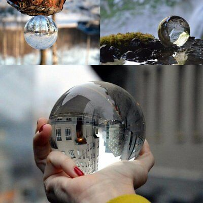 K9 Glass Crystal Paper Weight Magnifying Lens Ball Photo Decor 5/10/12/15cm UK