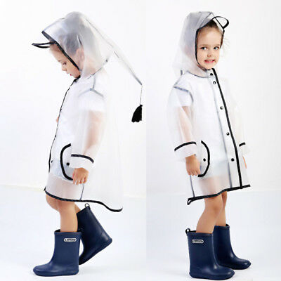 Outdoor Travel Waterproof Rain Coat Transparent Clear Coat Women Children Jacket