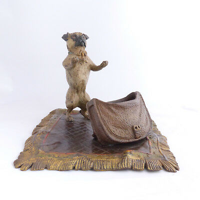 Pug Dog Antique Cold Painted Bronze Bergman Vienna