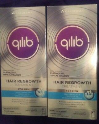 2 Qilib Hair Regrowth Treatment for Men 5% Minoxidil 2 Months Supply  EXPIRED-17