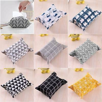 Cute Tissue Box Cotton Linen Holder Paper Storage Box Paper Towel Pack Cover
