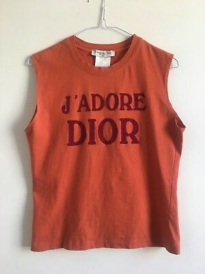 Chrisitan Dior Vest J'adore Dior Orange Cotton Vintage Galliano Carrie Bradshaw