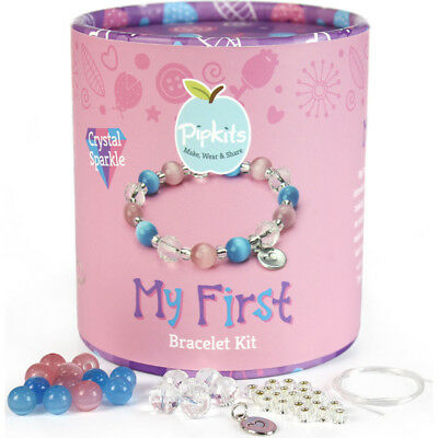 Pipkits My First Bracelet Kit - Crystal Sparkle - Jewellery Making Kit for Girls