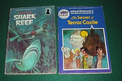 Hitchcock & 3 Investigators #1, 30~Lot of 2 PB~Terror Castle, Shark Reef