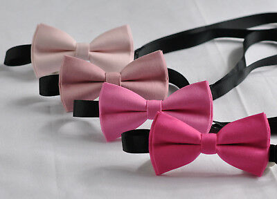 Baby Pink Candy PINK Hot Pink 100% Cotton BOW TIE for Men Toddlers Baby Kids Boy