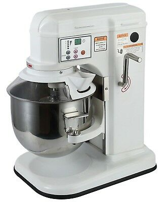 Commercial Planetary Dough Mixer 5 Speed Counter Top Planetary 7 Litre Baking