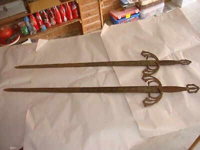 Spanish Toledo Pair Sword There Are Have Rust On Them Sale As Is