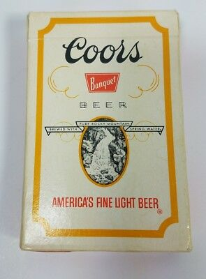 COORS Banquet Beer Plastic Coated Playing Cards Full Deck 2 Jokers