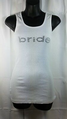 UMG BRIDE Tank Top Womens Juniors Size Large Wedding Bachorlette Party Shirt