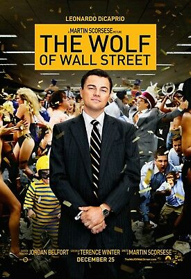 The Wolf of Wall Street 2013 Movie Poster Print A0-A1-A2-A3-A4-A5-A6-MAXI - CL99