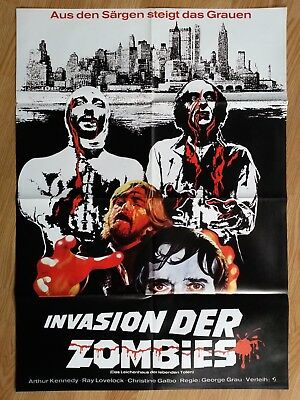 THE LIVING DEAD AT MANCHESTER MORGUE - German 1-sheet -  LET SLEEPING CORPES DIE