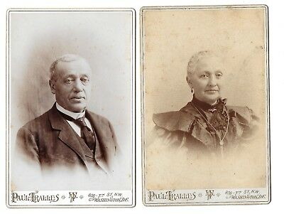 Antique Cabinet Card Photos PAIR...Couple or Brother & Sister 1890s