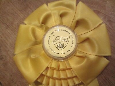 Vtg Western C.c. Yellow Ribbon 3Rd Place  V.w.c.c. Bridle Club Roanoke, Va.1972