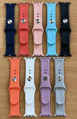 Silicone Sport Band Replacement for Apple Watch Strap 38/42mm Series 3/2/1