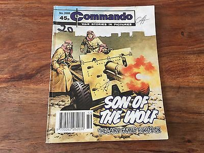 Commando comics book no. 2685 Son of the wolf war story comic book in pictures