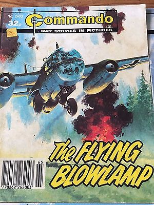 Commando comics book no. 2403 The flying blowlamp war stories comic in pictures