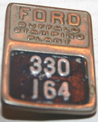 1930's-'40's FORD Identification Badge, Buffalo Stamping Plant ORIGINAL