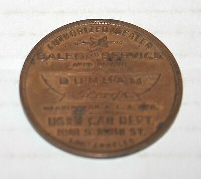 1920's FORD COIN Your Lucky Piece, Dunham FORD, Used Car Dept, LA CA ORIGINAL