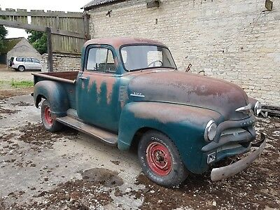 1954 Chevy 3100 Shortbed Pickup Truck Original Running driving Project