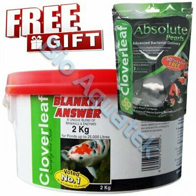 2KG Cloverleaf Blanket Answer & FREE XL Absolute Pearls Clear Water Weed Pond