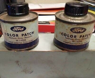 Ford Color Patch Touch Up Cans and Box 1949 Texture Gray Interior M-14308