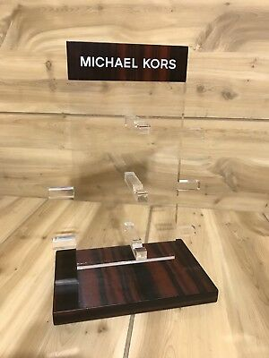MICHAEL KORS  Unit Counter Display glasses or bracelets lucite wood
